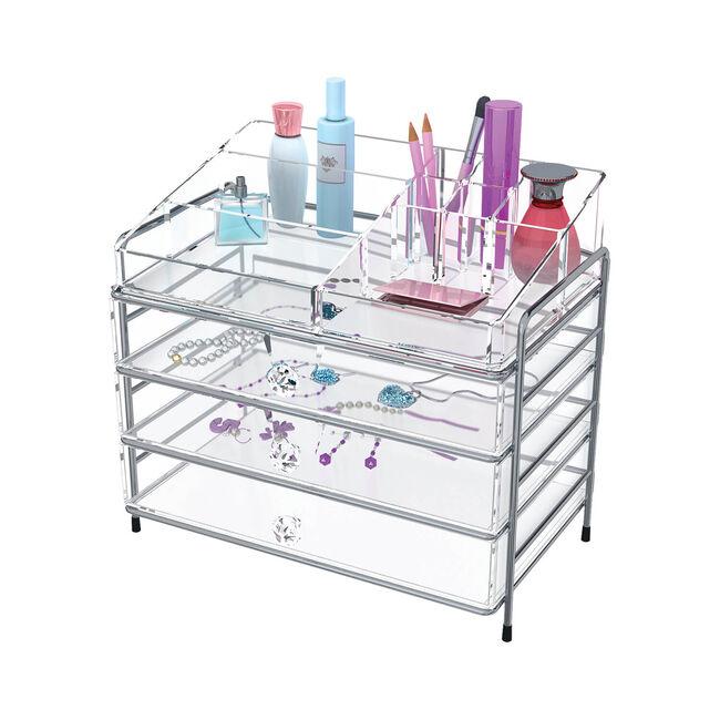 Clear Cosmetic Organiser 3 Drawer