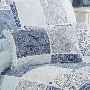 Paisley Patch Denim Cushion 30x50cm