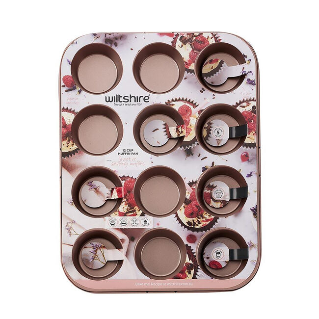Wiltshire Muffin Pan 12 Cup - Rose Gold