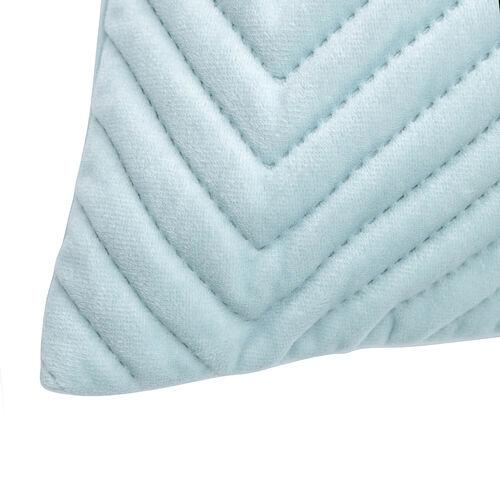 Triangle Stitch Cushion 45x45cm - Mint