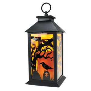 Halloween Lantern with Flameless Candle
