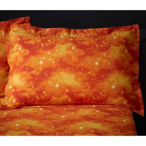 Witch Silhouette Oxford Pillowcase Pair - Orange