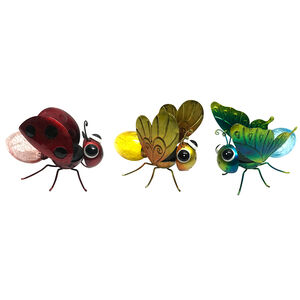 Art Glass Solar Dragonfly