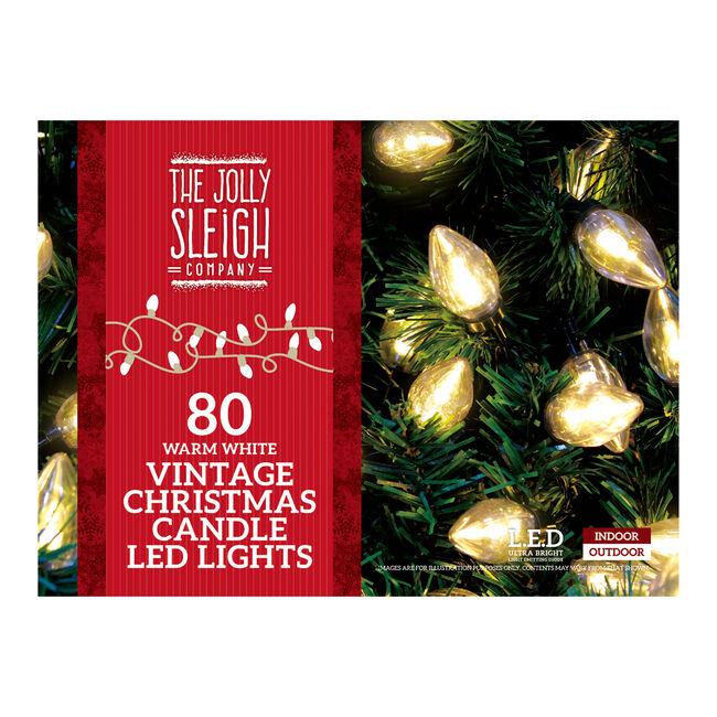 80 LED Christmas White Candle Lights