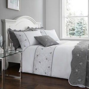 SINGLE DUVET COVER Matelassé Grey