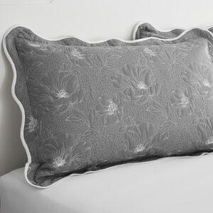 Matelassè Grey Pillowshams 50x75cm