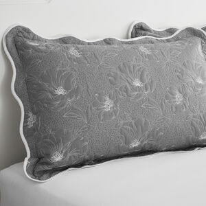 Matelassè Grey Pillowshams 50x75cm