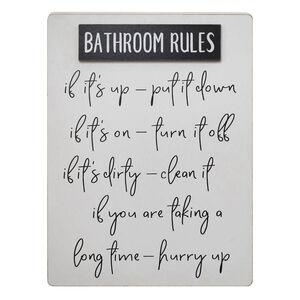 Bathroom Rules Wall Décor 30x40cm