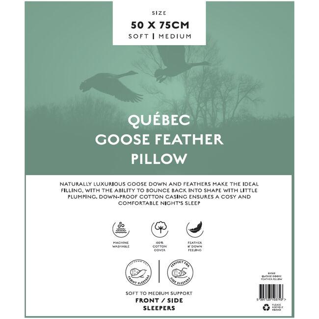 Québec Goose Feather Pillow