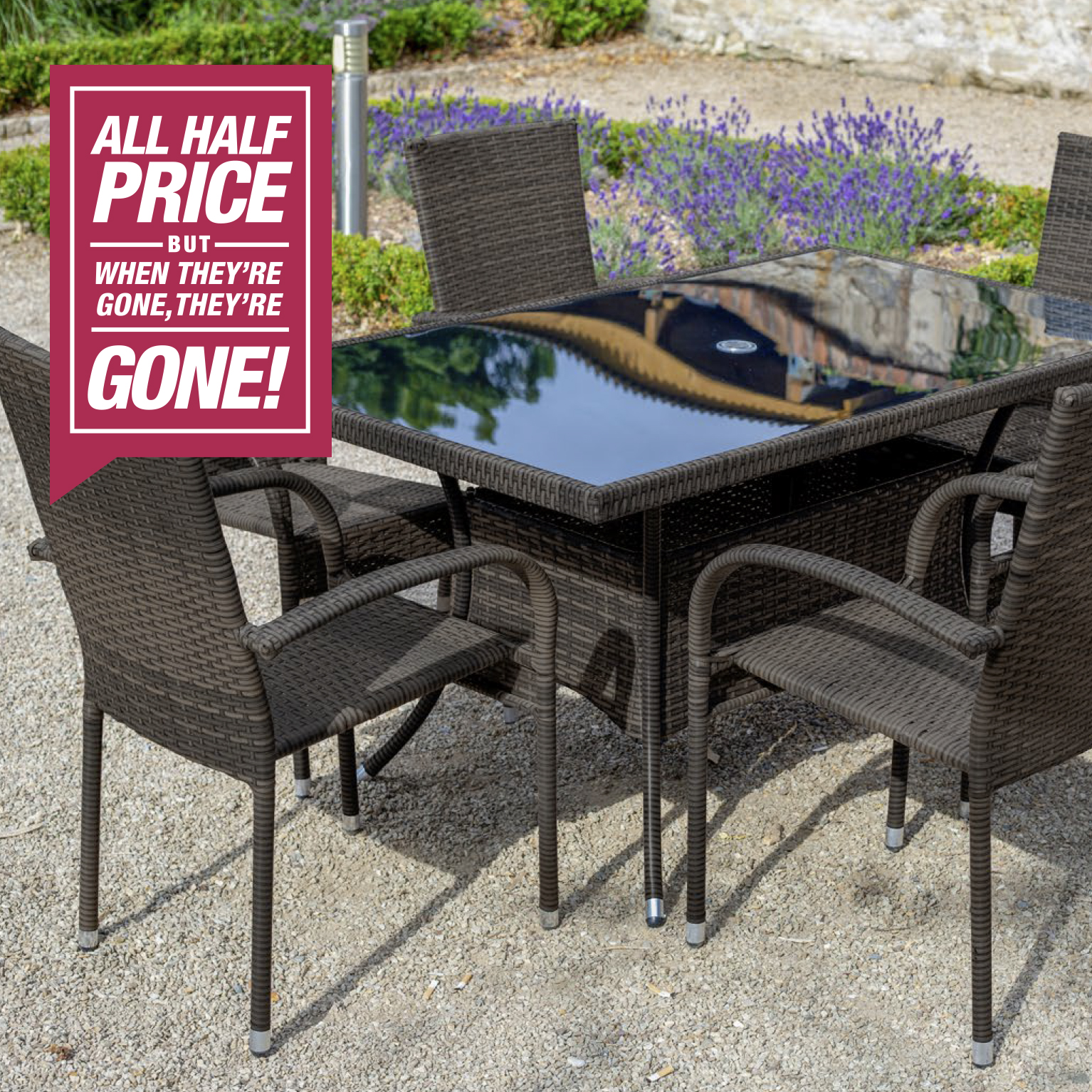 Santona rattan garden furniture set 7 piece home store more