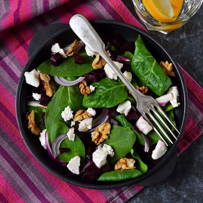 Roasted Beetroot & Feta Salad