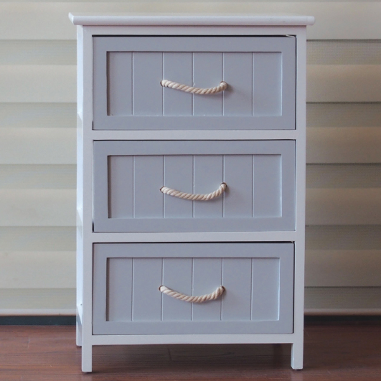 Household Stores: Hampton Nautical 3 Drawer Storage Unit
