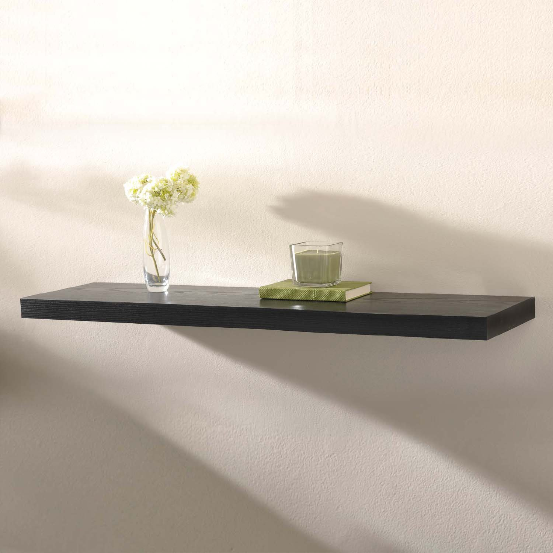 Images capri black floating wall shelf
