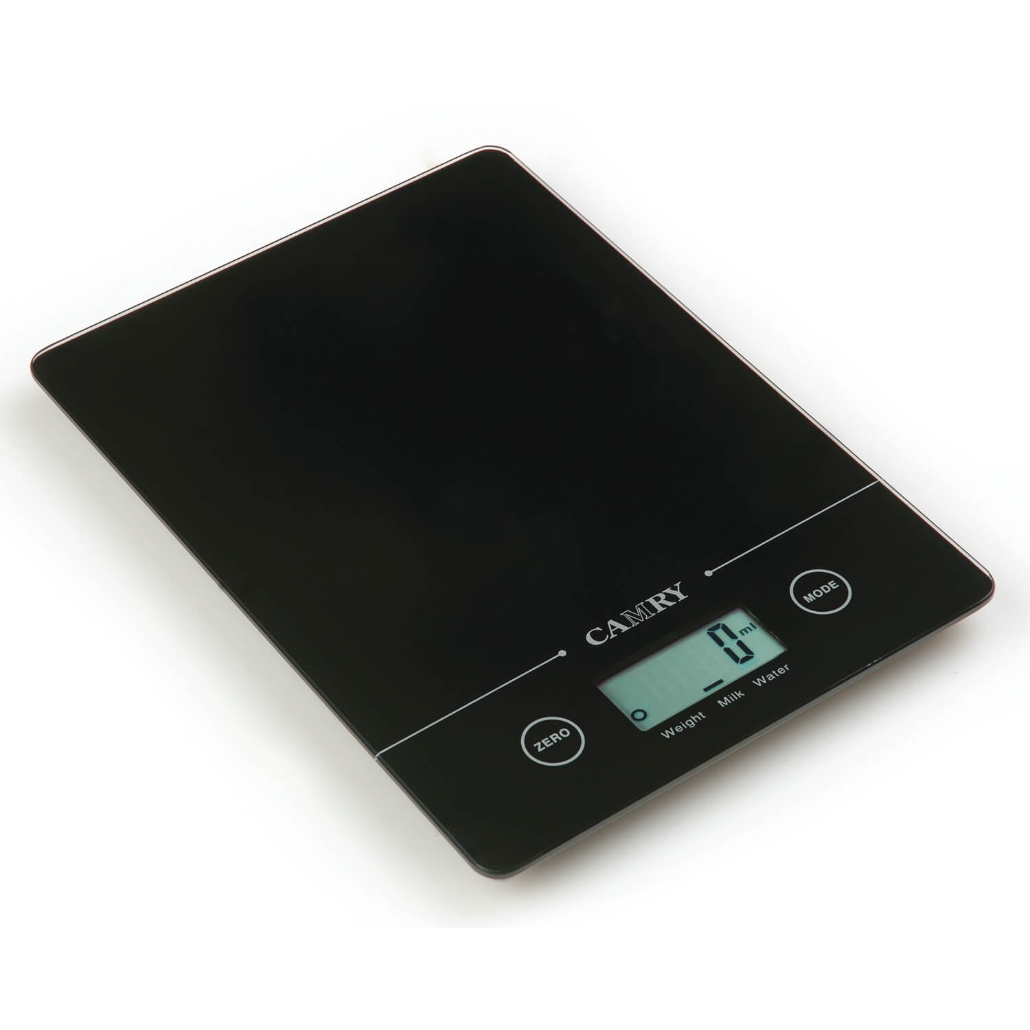 Images Camry Black Rectangular Electronic Kitchen Scale