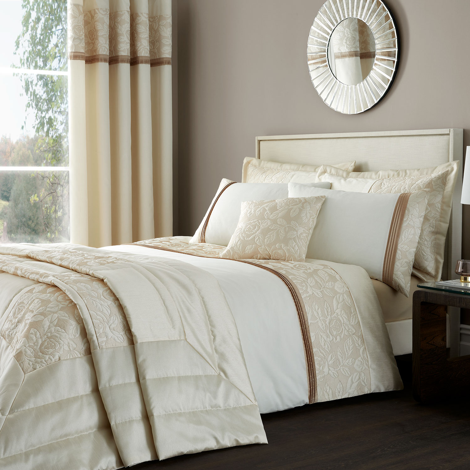 Quilted Rose Duvet Set Home Store More