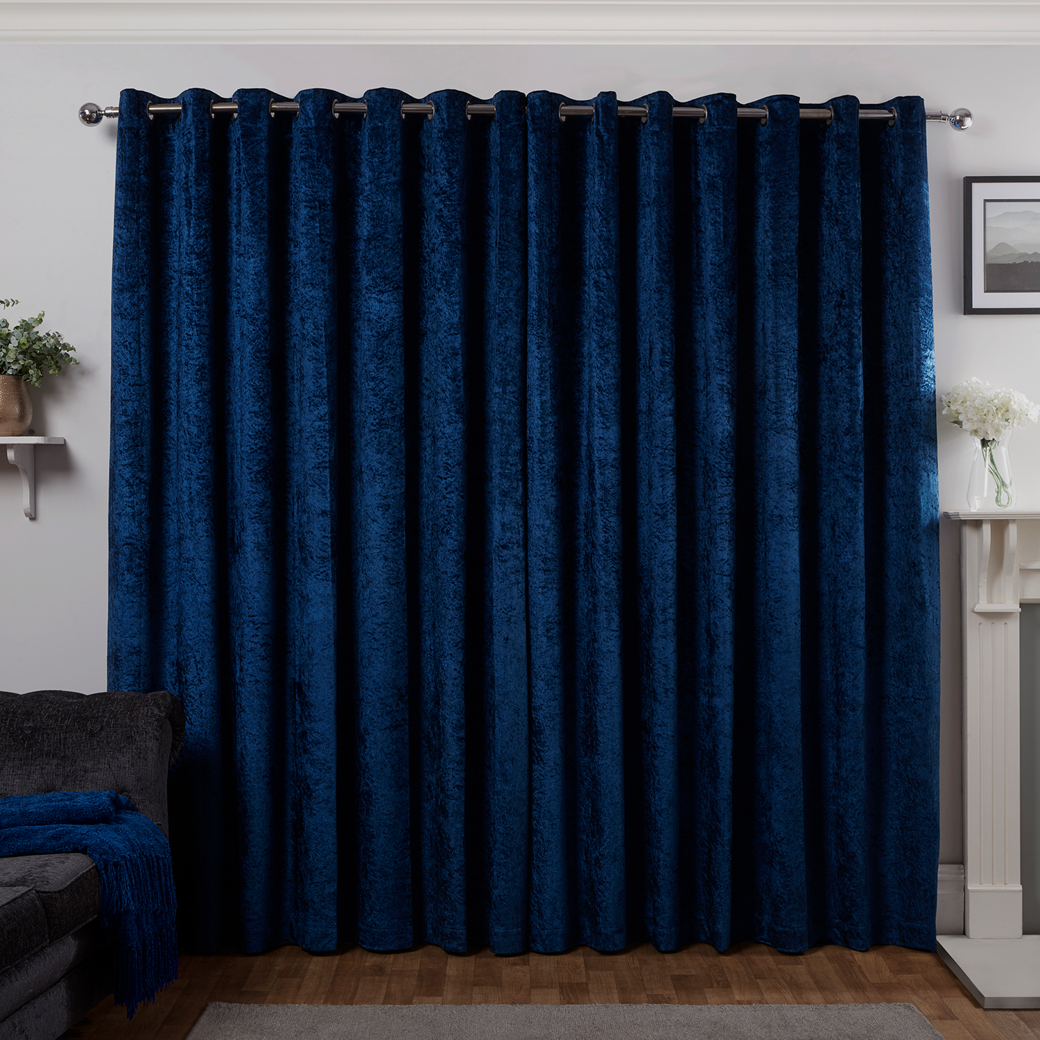 Blackout Thermal Crushed Velvet Curtain Home Store More