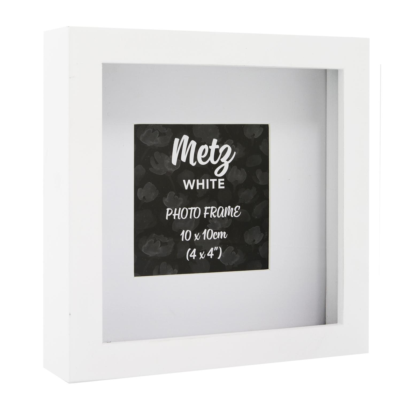 Metz White Photo Frame 4x4