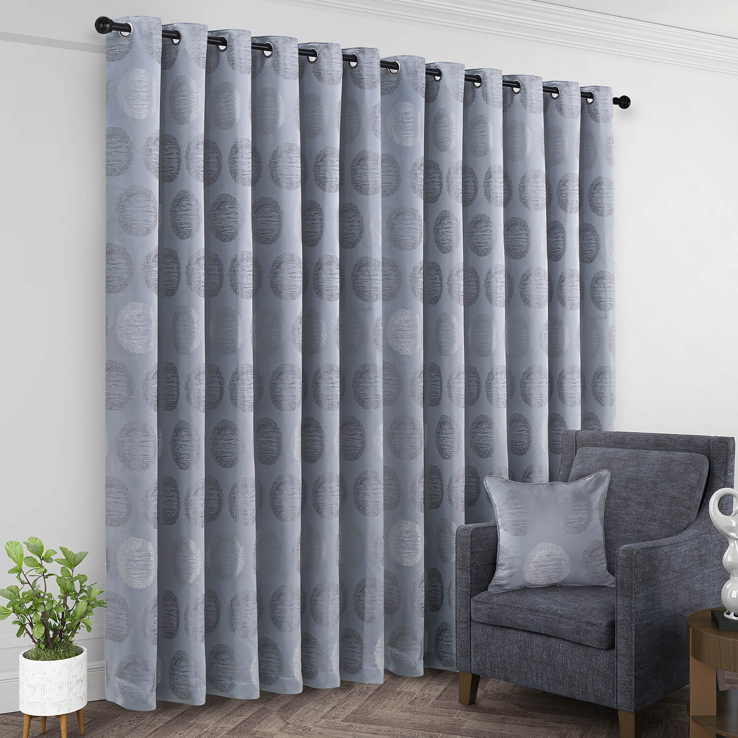 TURIN DUCK EGG 66x54 Curtain