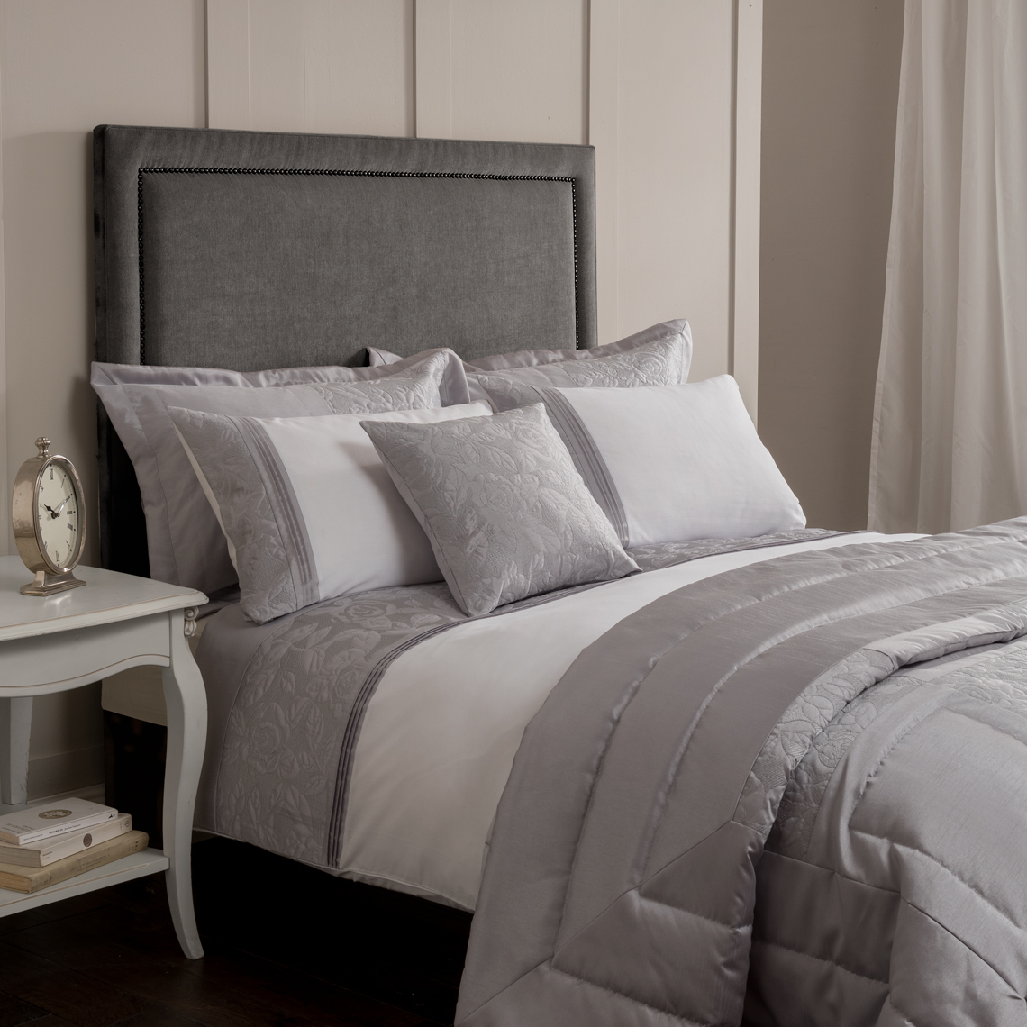 Glitter Rose Silver Pillowshams 50x75cm Home Store More