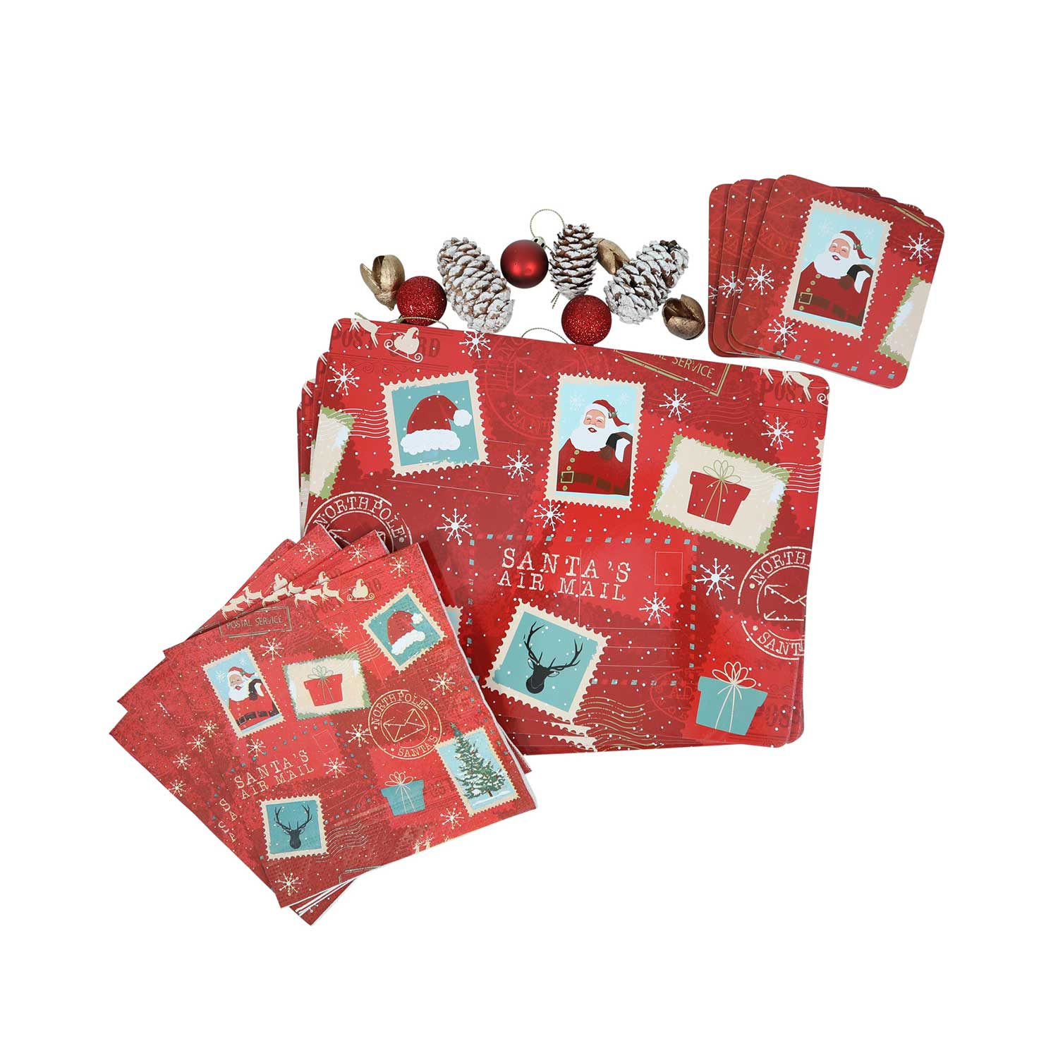 Northpole Express Mats & Coasters - 4 Pack