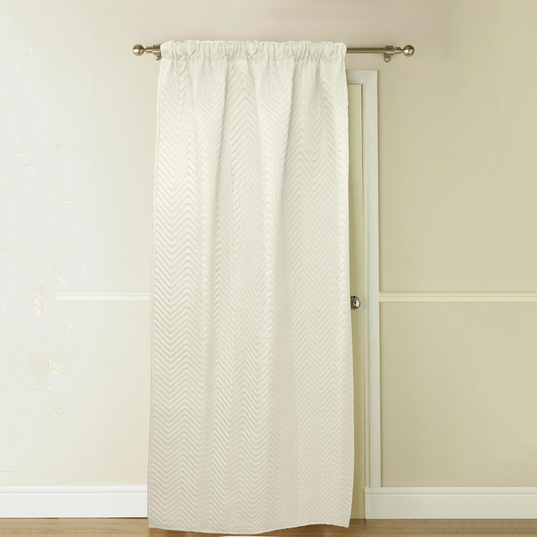 Images Chevron Marshmallow Thermal Door Curtain