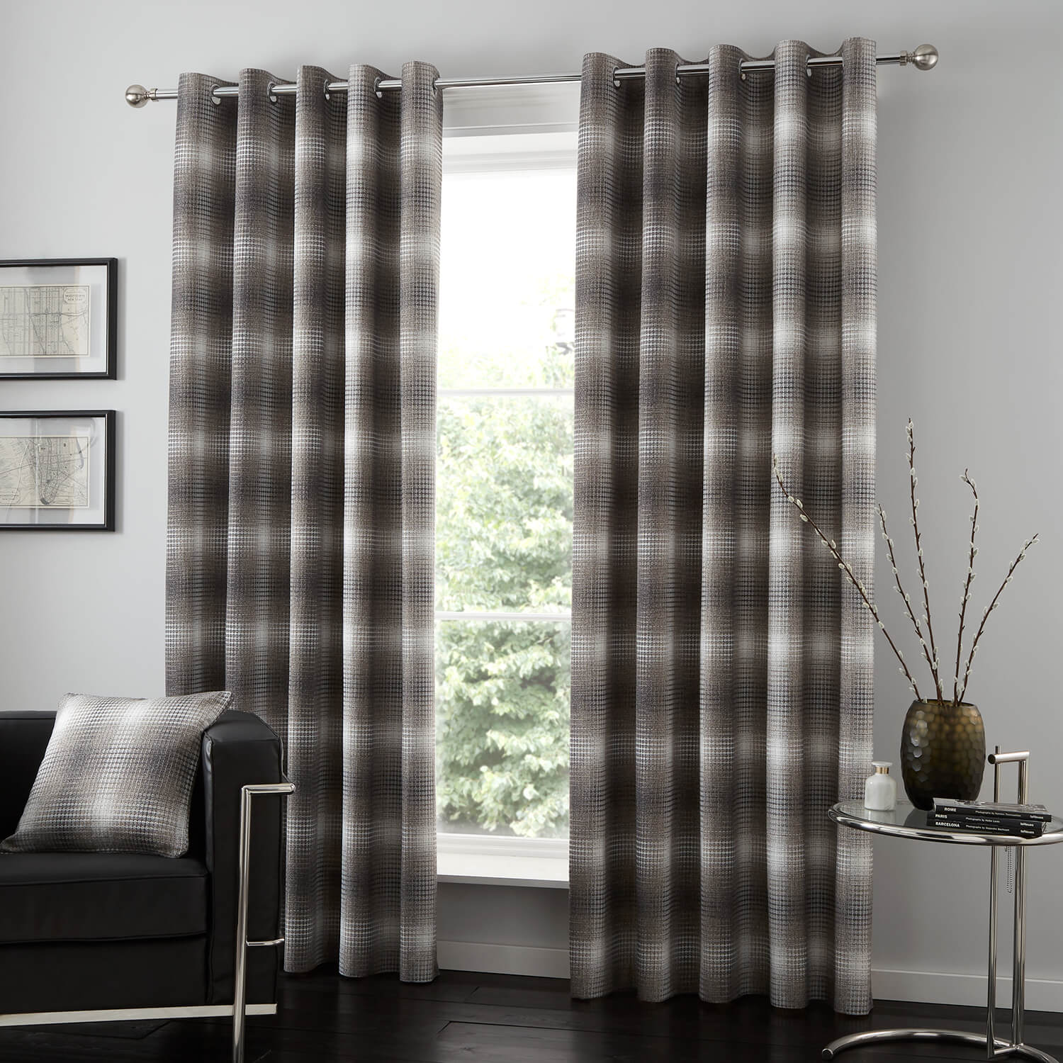 KELSO GREY 66x54 Curtain