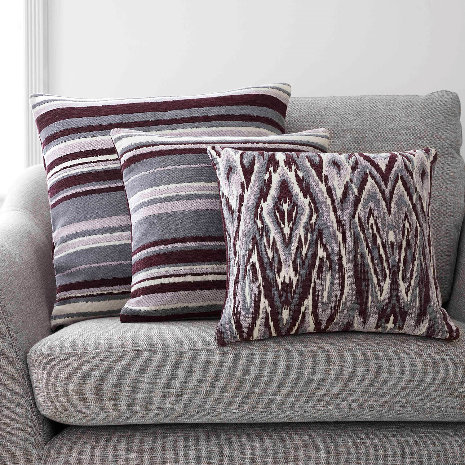 Rhea Cushion 45 x 45cm - Plum