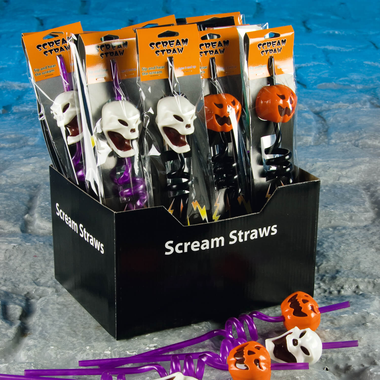 halloween scream straws - home store + more