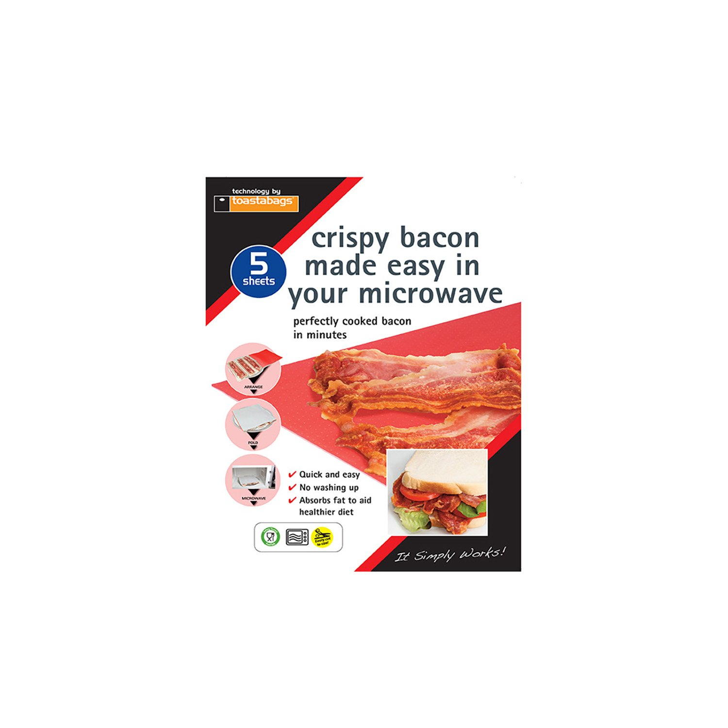 Toastabags Crispy Bacon Microwave Lines
