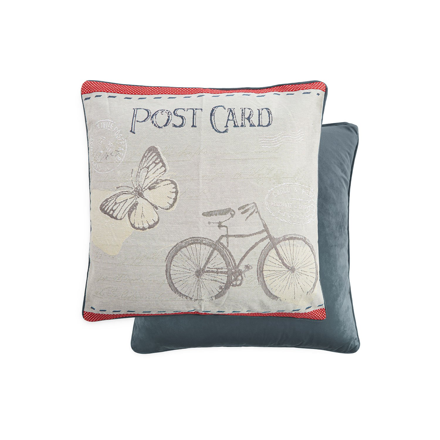 Vintage Postcard Cushion Cover 2 Pack 45x45cm