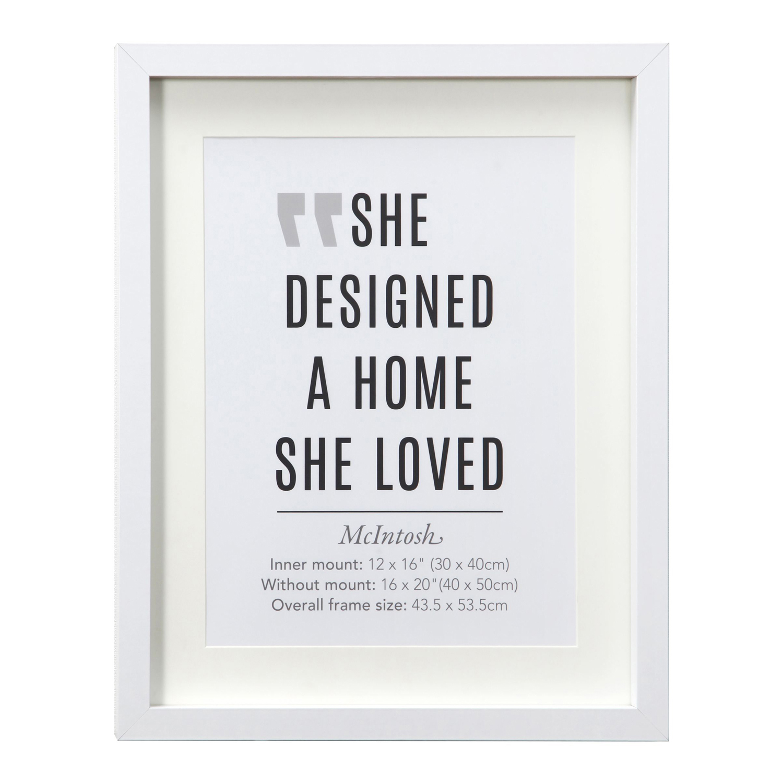 40X50CM McIntosh White Poster Frame - Home Store + More