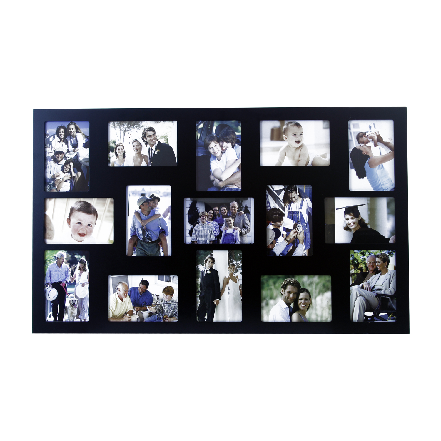 Classic black 15 window photo frame home store more for 15 window