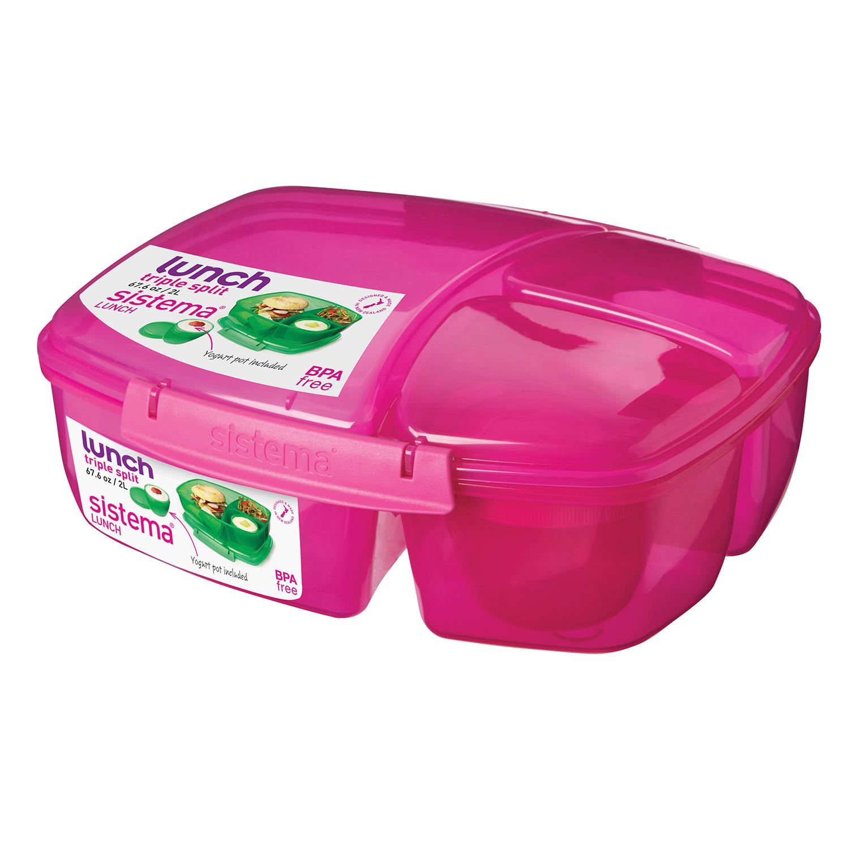 sistema triple split lunch box home store more