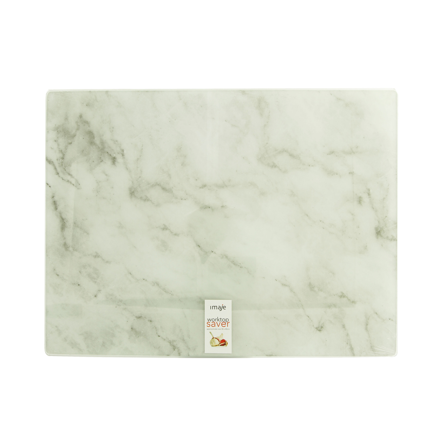 White Marble Glass Worktop Saver Home Store More