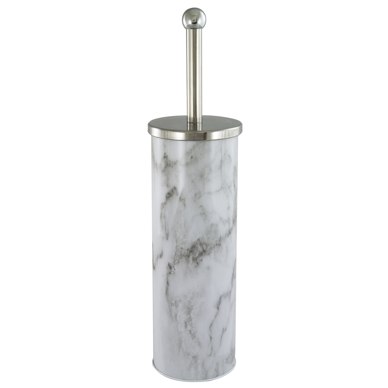 Images Marble Effect Toilet Brush Holder