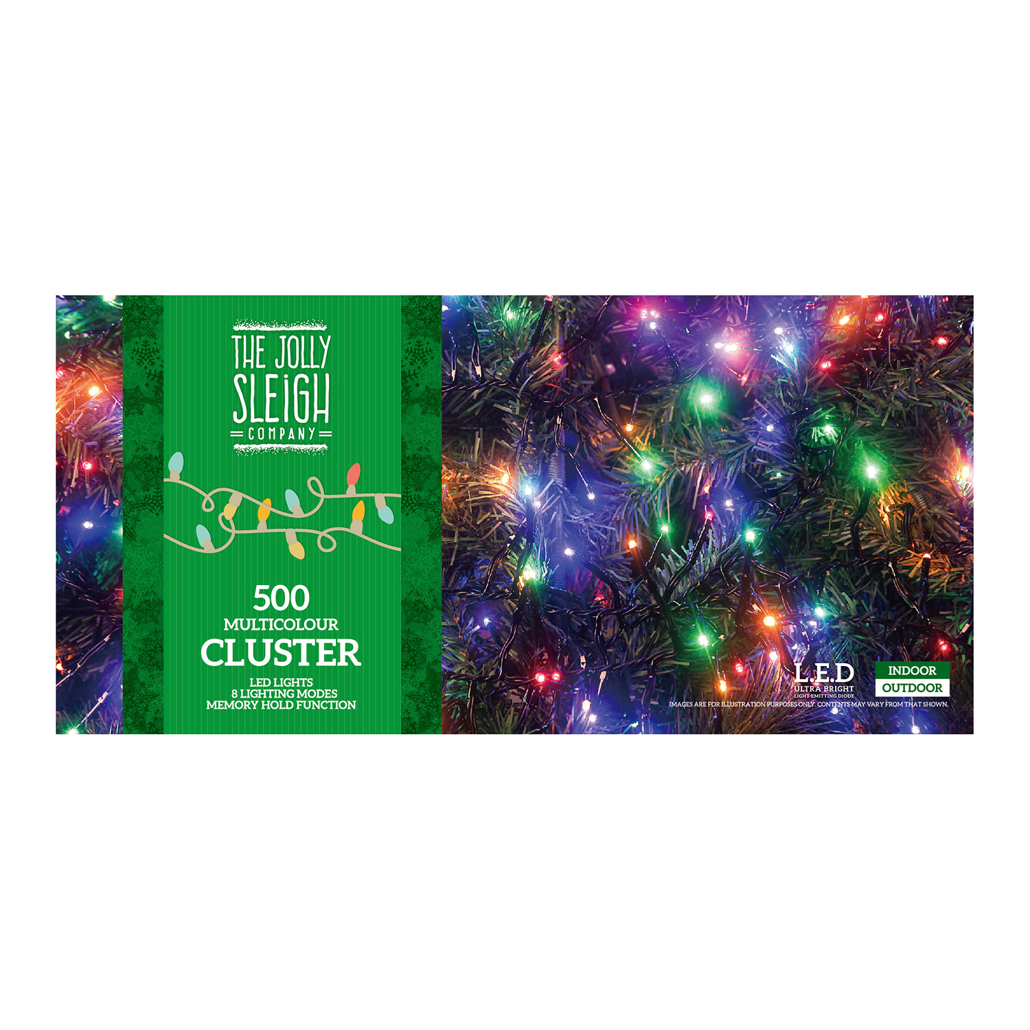 500 Multicolour Led Cluster Lights Home Store More Multi Colour Tap To Expand