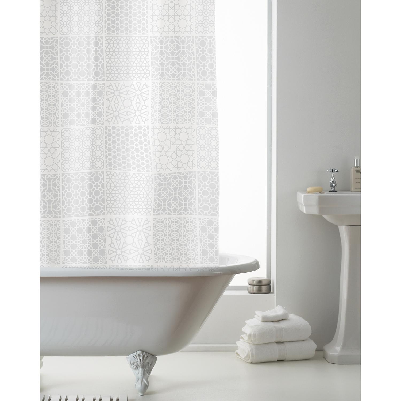 Images Peva Shower Curtain Tuile