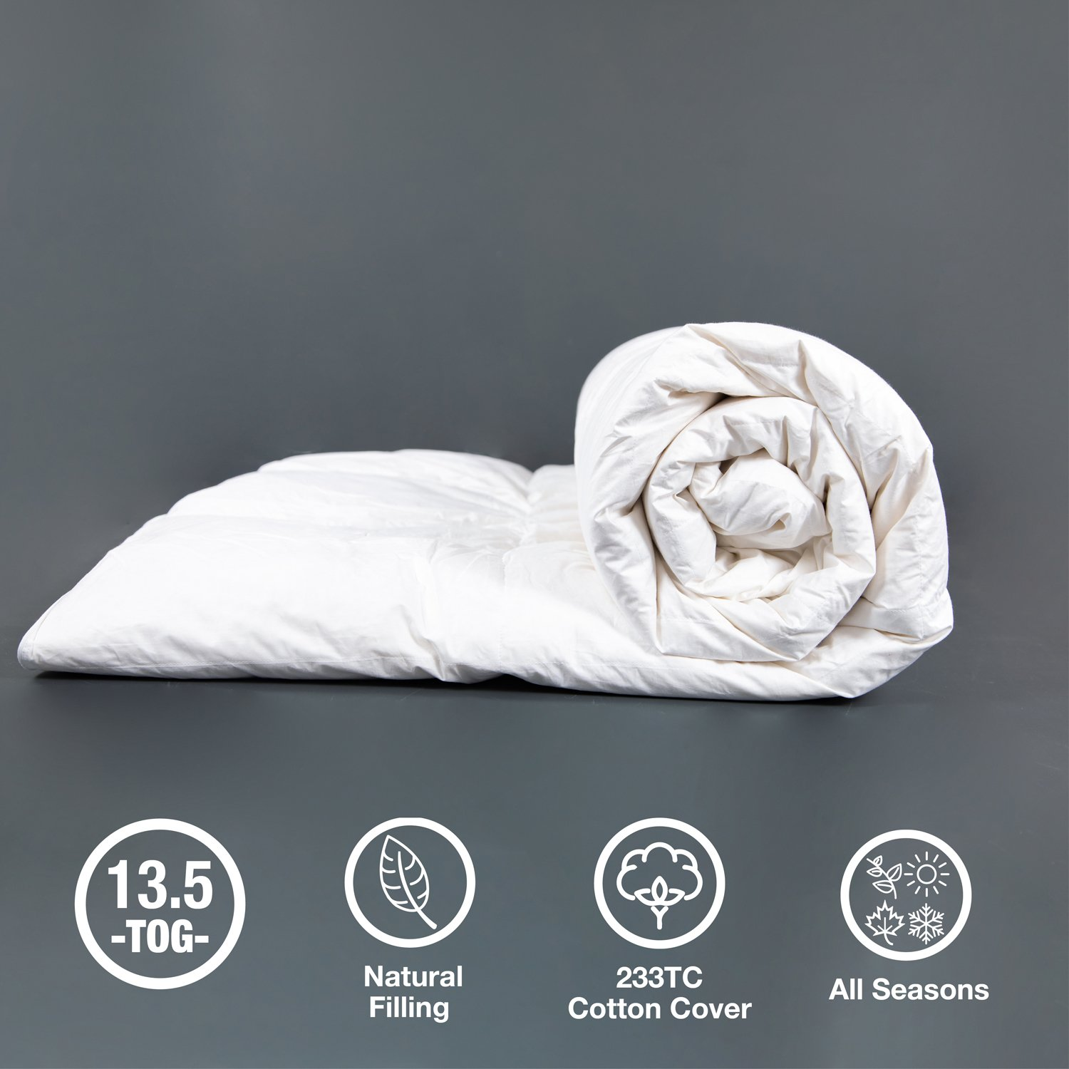 RADIANT COMFORT DUCK FEATHER & DOWN SINGLE Duvet