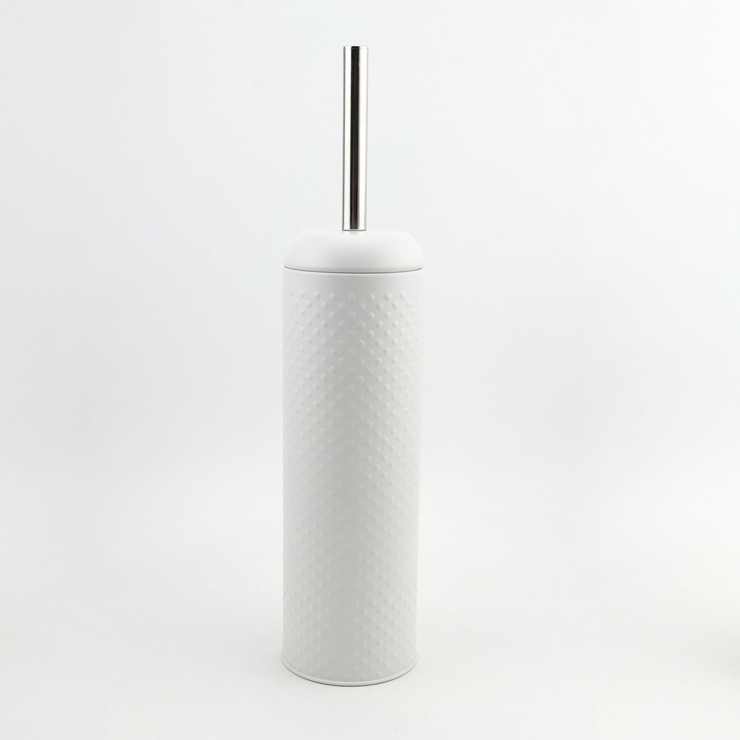 Hammered White Toilet Brush