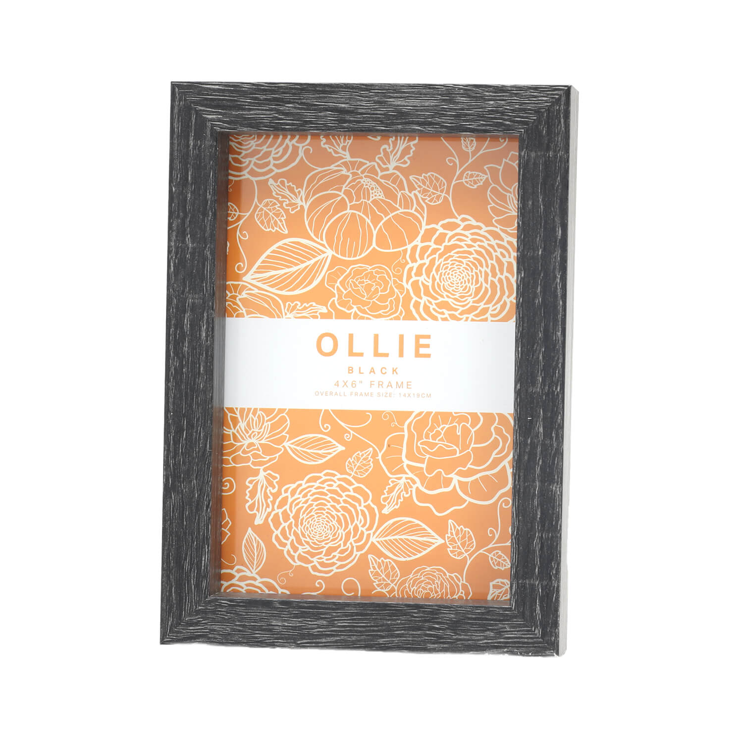 "Ollie Photo Frame 4x6"" - Black"