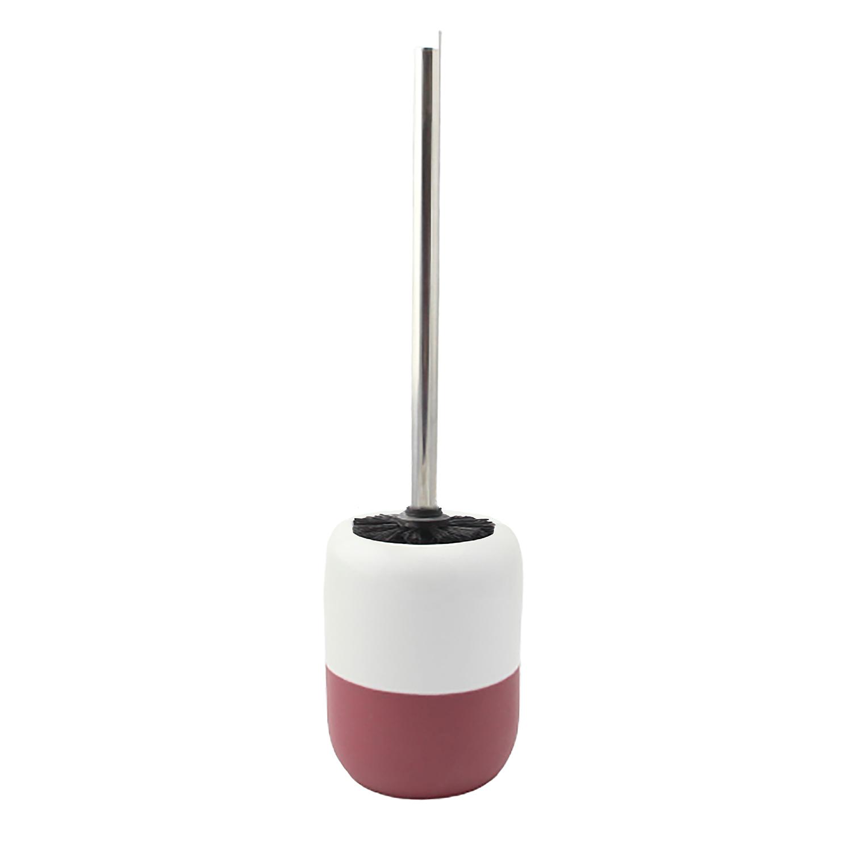 Dipped Glaze Toilet Brush With Holder