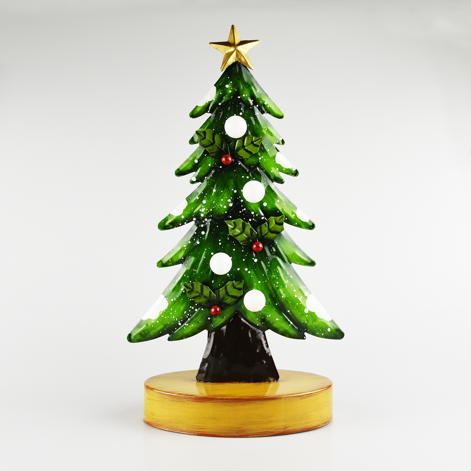 Lightup Metal Christmas Tree with Star