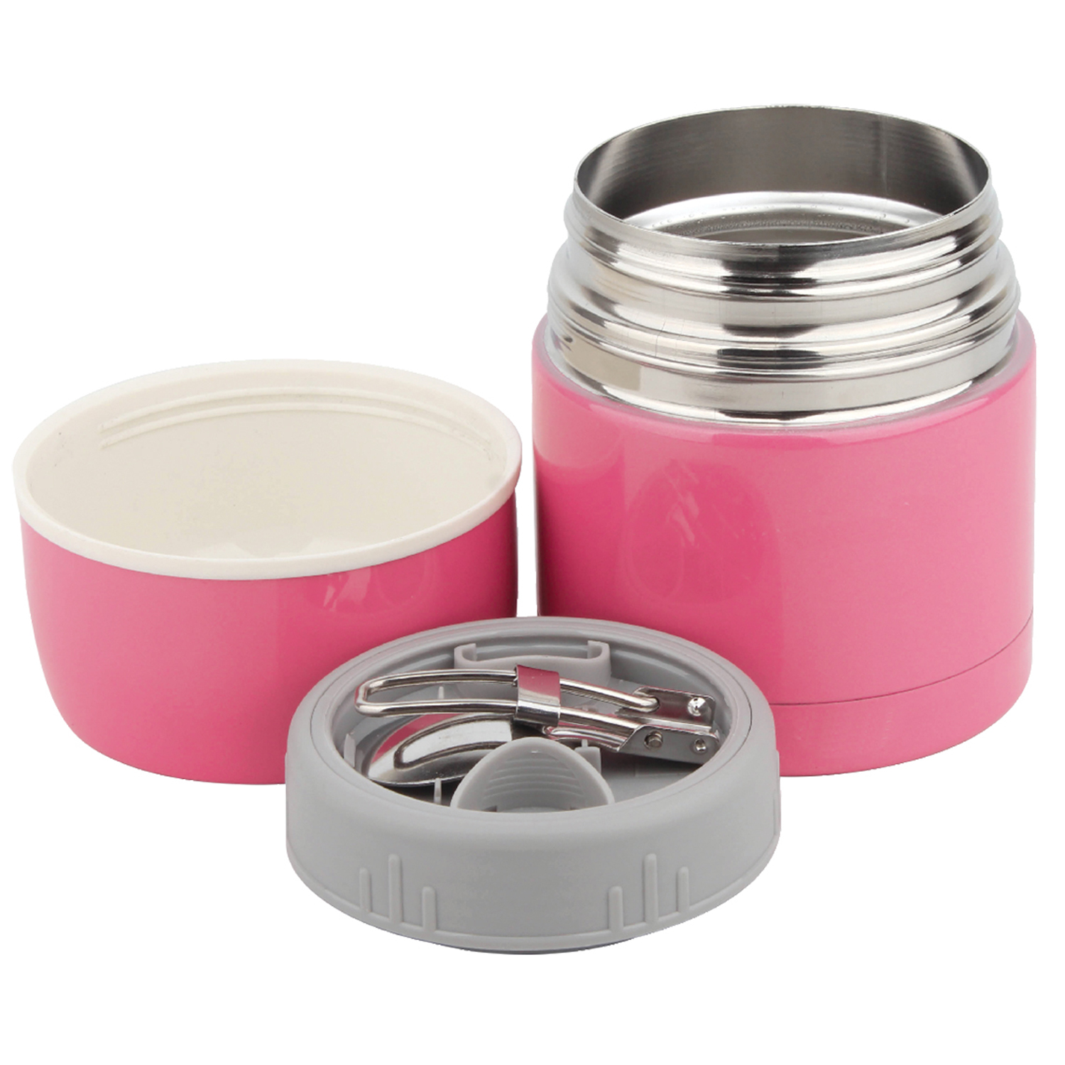 Stainless Steel Soup Flask With Spoon 063756
