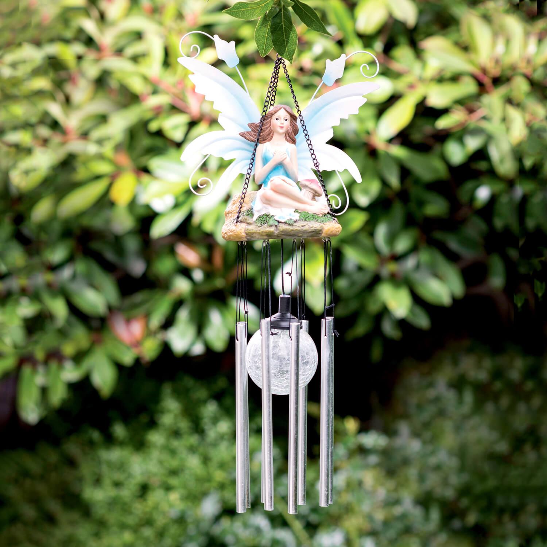 Fairy Windchime Solar Light 065187 Artful Garden 5397125013424