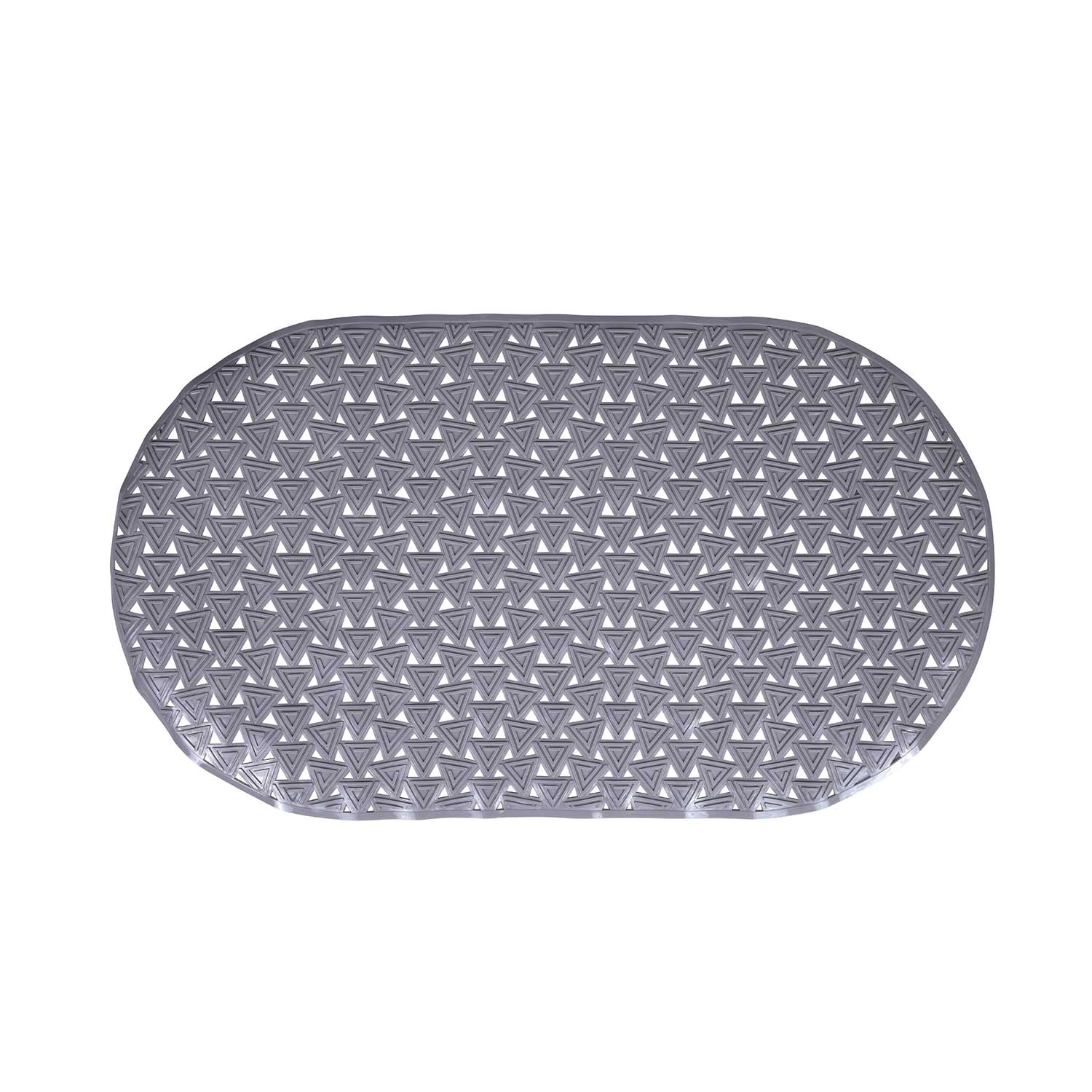 Triangles Bath Mat - Grey