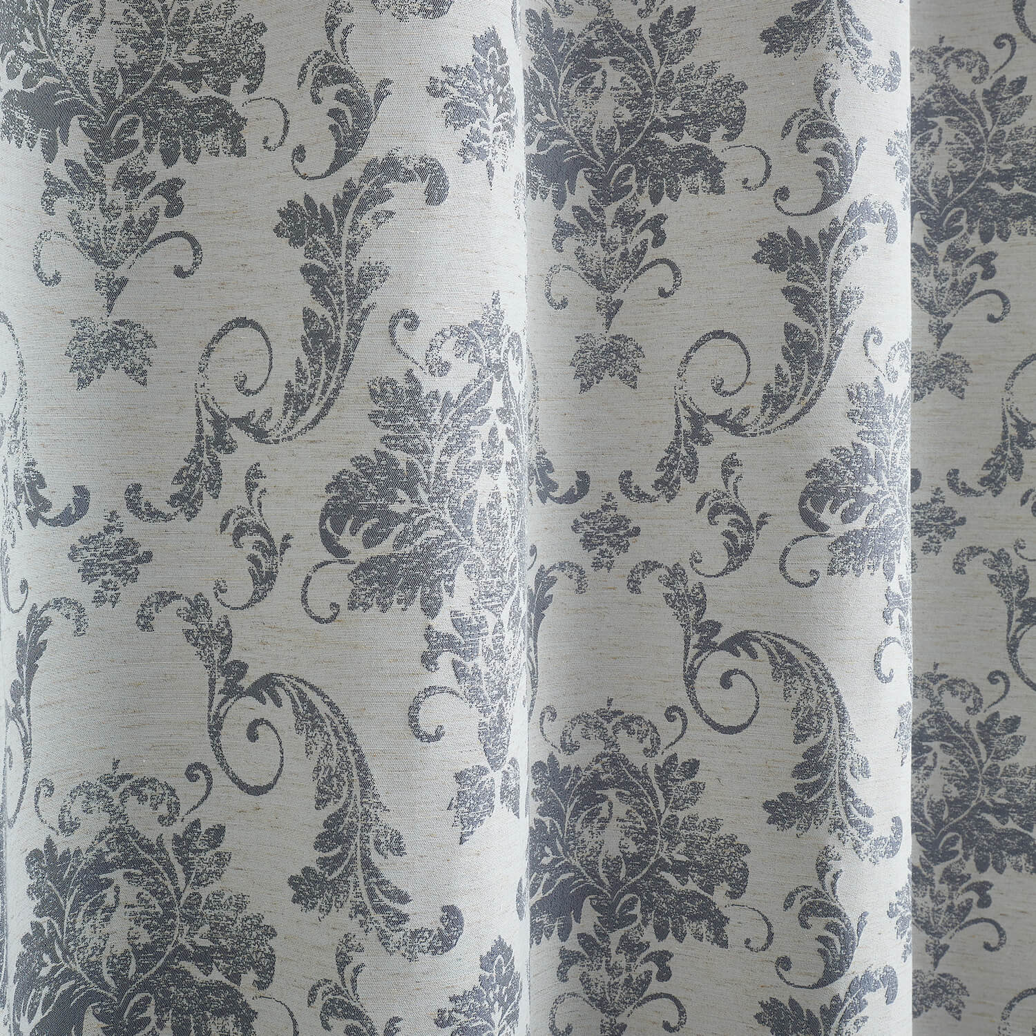 DISTRESSED DAMASK BLUE 66x90 Curtain