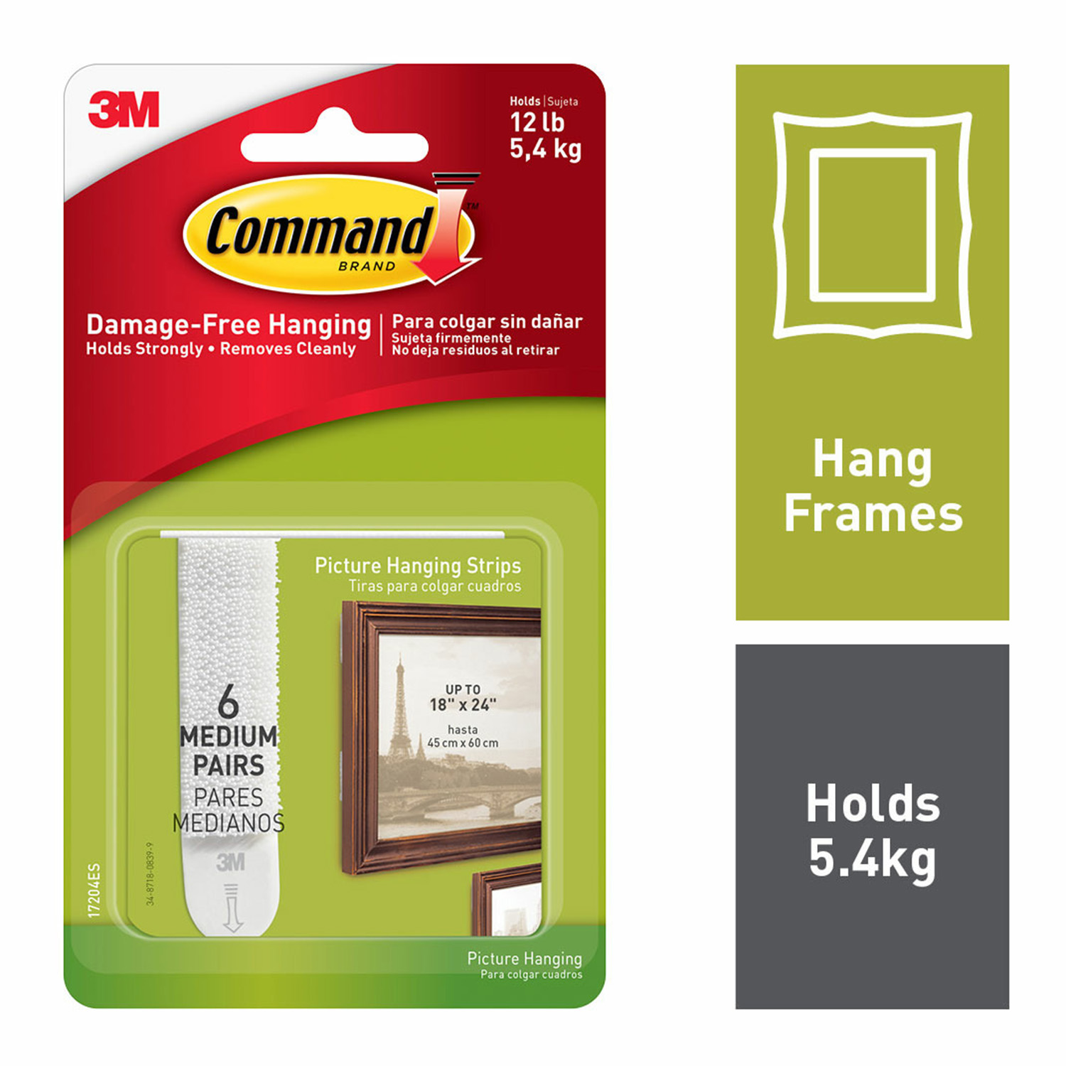 Command 6Pk Medium Picture Hanging Strips