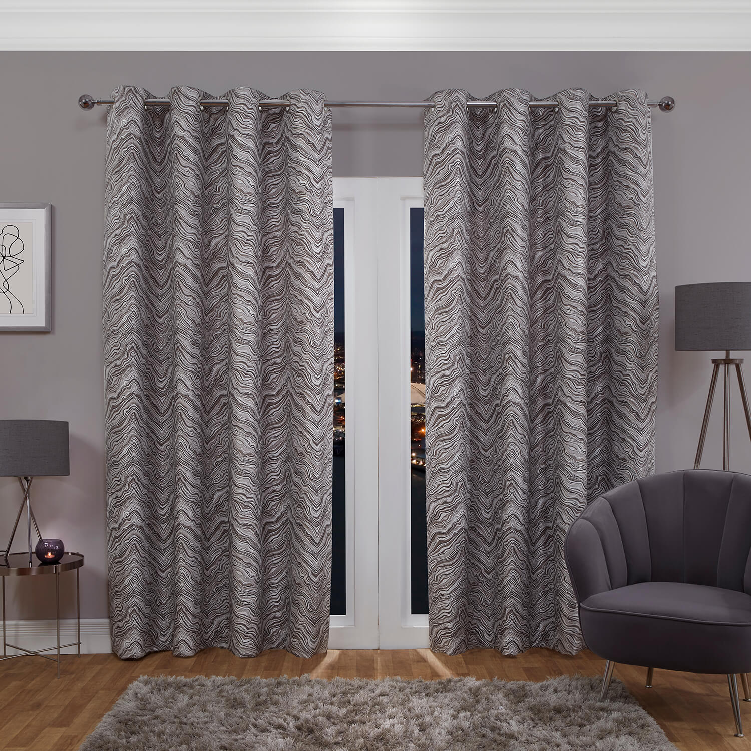 HYDE NATURAL 66x54 Curtain