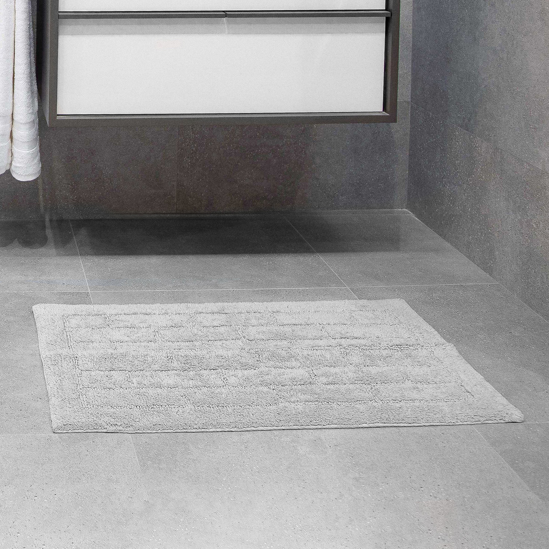 Cotton Brick Dove Grey Bath Mat 50cm X 80cm Home Store More