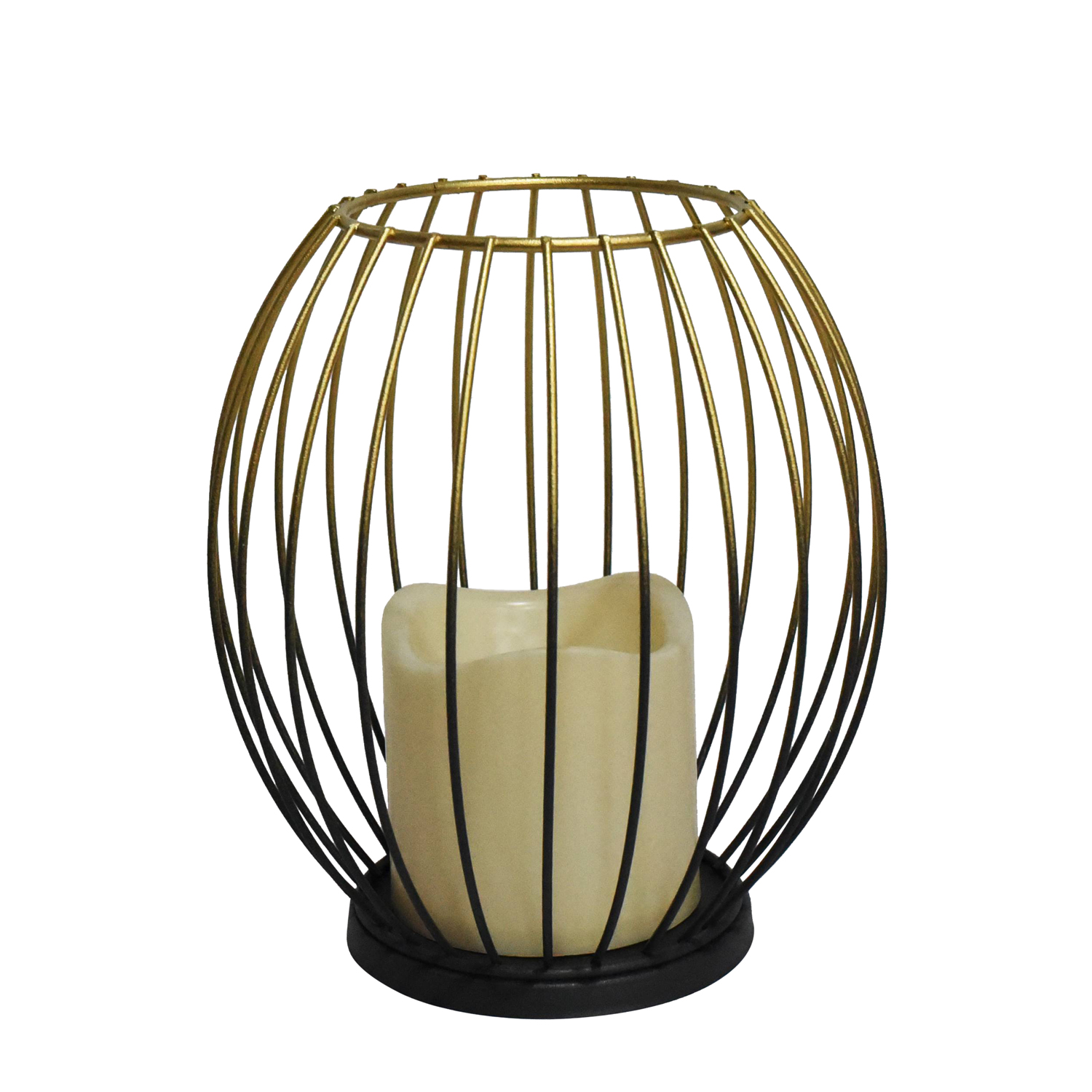 Cage Lantern With Flickering Light